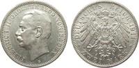 2 Mark Baden 1911 G Kaiserreich  min. Randfehler, vz  /  vz+  365,00 EUR kostenloser Versand
