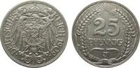 25 Pfennig 1909 J Kaiserreich  sehr schön / vorzüglich  1550,00 EUR kostenloser Versand