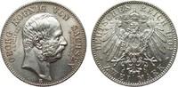 2 Mark Sachsen Georg auf den Tod 1904 E Kaiserreich  Bildseite vz/St, A... 90,00 EUR  zzgl. 4,00 EUR Versand