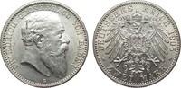 2 Mark Baden 1905 G Kaiserreich  Bildseite vz/St, Adlerseite f.St  125,00 EUR  zzgl. 4,00 EUR Versand