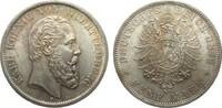 5 Mark Württemberg 1876 F Kaiserreich  wz. Kratzer, vorzüglich / Stempe... 995,00 EUR kostenloser Versand