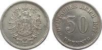 50 Pfennig 1877 H Kaiserreich  wz. Druckstellen, besser als sehr schön  195,00 EUR  zzgl. 4,00 EUR Versand