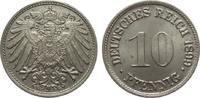 10 Pfennig 1899 G Kaiserreich  wz. Randfehler, vorzüglich / Stempelglanz  125,00 EUR  zzgl. 4,00 EUR Versand