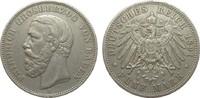 5 Mark Baden ohne Querstrich im A 1891 G Kaiserreich  knapp sehr schön  380,00 EUR kostenloser Versand