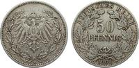 50 Pfennig 1901 A Kaiserreich  sehr schön  325,00 EUR kostenloser Versand