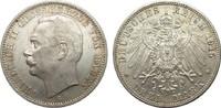 3 Mark Baden 1915 G Kaiserreich  wz. Rf., Bildseite vz+, Adlerseite vz/St  95,00 EUR  zzgl. 4,00 EUR Versand
