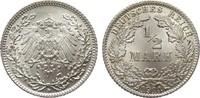 1/2 Mark 1914 D Kaiserreich  Stempelglanz  35,00 EUR  zzgl. 4,00 EUR Versand