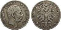 2 Mark Sachsen 1883 E Kaiserreich  schön / sehr schön  165,00 EUR  zzgl. 4,00 EUR Versand