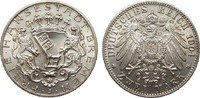 2 Mark Bremen 1904 J Kaiserreich  fast Stempelglanz / Stempelglanz  139,00 EUR  zzgl. 4,00 EUR Versand