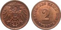 2 Pfennig 1907 A Kaiserreich  fast Stempelglanz  15,00 EUR  zzgl. 4,00 EUR Versand