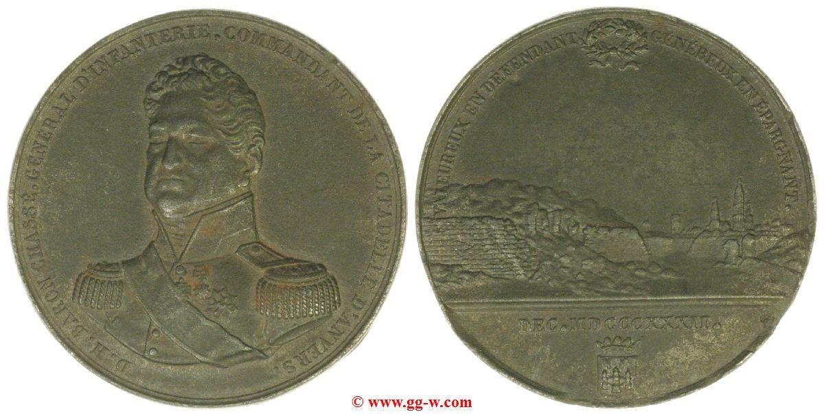 Medaille aus Eisen 1832 Holland / Belgien Holland / Belgien sehr selten sehr schöner Eisenguss