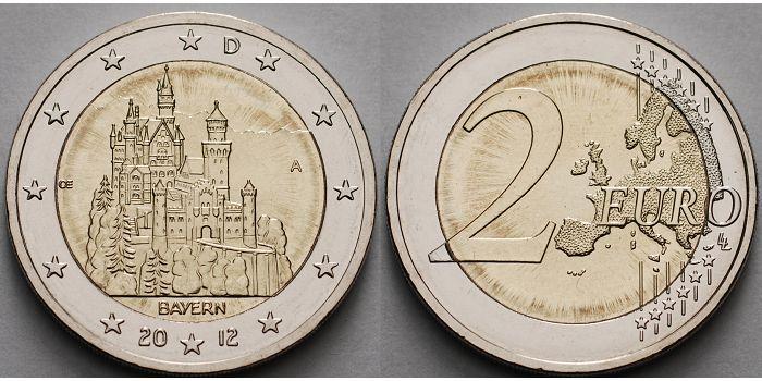 2 Euro 2012 A Deutschland Schloss Neuschwanstein In Bayernbrb