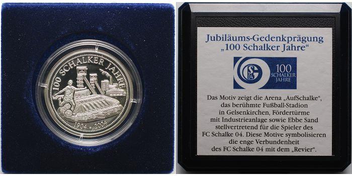 Medaille 2004 Deutschland 100 Jahre Schalke 04 1904 2004 Inkl