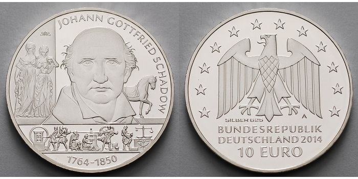 10 Eurobr 2014 Deutschland 250 Geburtstag Johann Gottfried