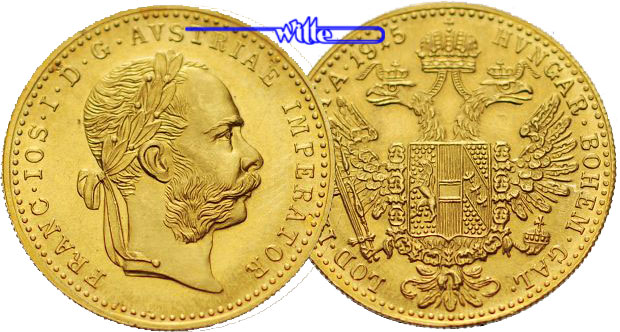 1 Dukat344gfein20 Mm ø 1915 österreich Franz Joseph I Amtl