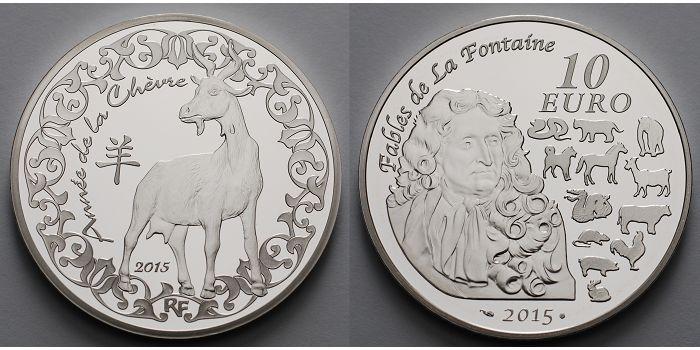 10 Euro 2015 Frankreich Jahr Der Ziege Chinkalender 15 Inkl