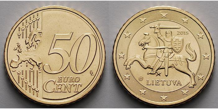 50 Cent 2015 Litauen Kursmünze 50 Cent Ab Sofort Lieferbar Stgl