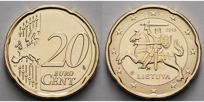 20 Cent 2015 Litauen Kursmünze 20 Cent Ab Sofort Lieferbar Stgl