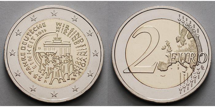 2 Euro 2015 A Deutschland 25 Jahre Deutsche Einheitbrb