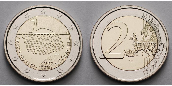 2 Euro 2015 Finnland 150 Geb Akseli Gallen Kallela 1865 2015
