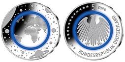 5 Euro 2016 Außer Fgj Deutschland Blauer Planet Erde B