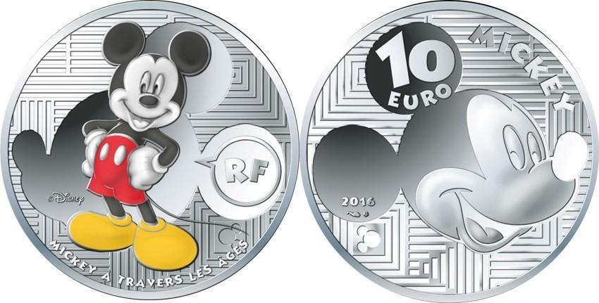 10 Eurobr 1998gbr Feinbr 37 Mm ø 2016 Frankreich Mickey Mouse