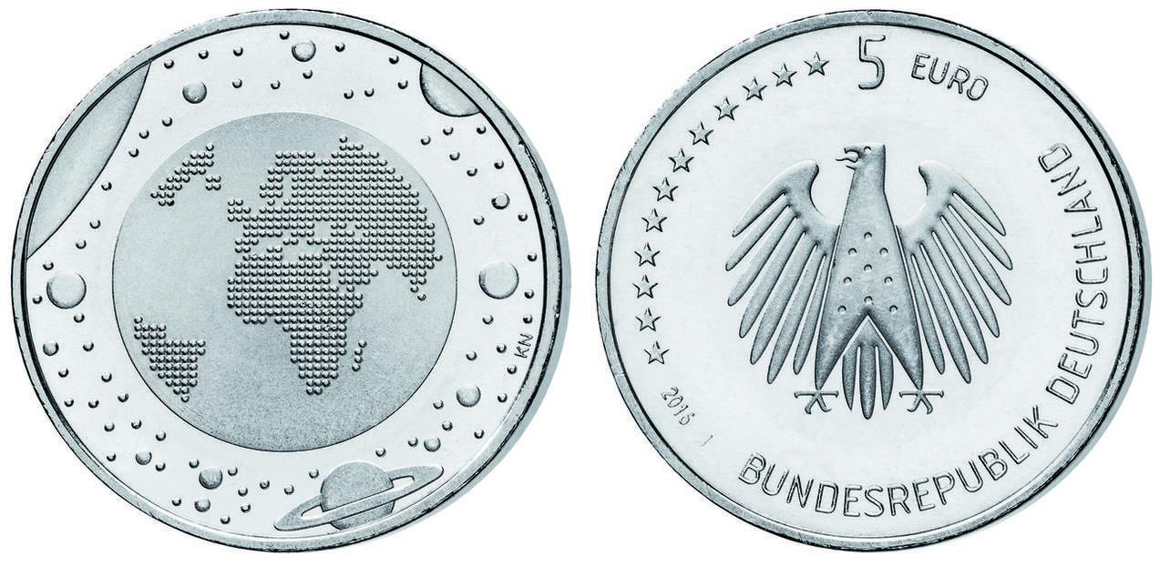 5 Euro Mit Foto Expertise Echtheitssiegel 2016 J Deutschland