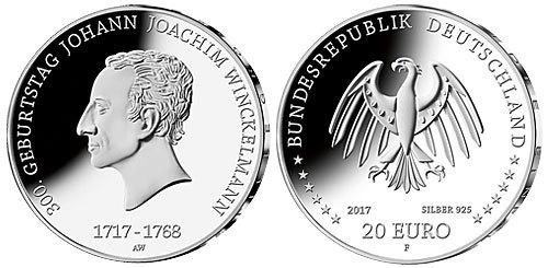 Bfünftebr20 Euro B 2017 Deutschland 300 Geb Johann Joachim