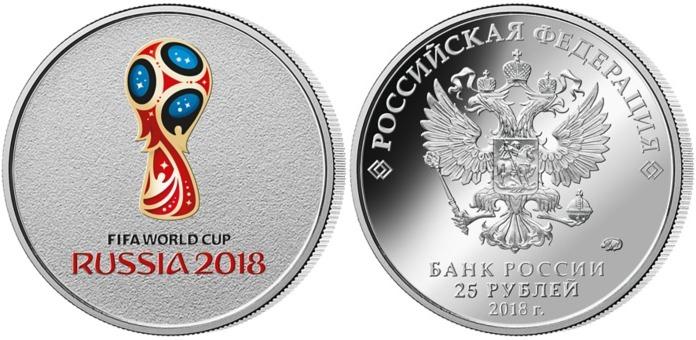 25 Rubel Br Bim Blisterb 2018 Russland Fußball Wm 2018 In