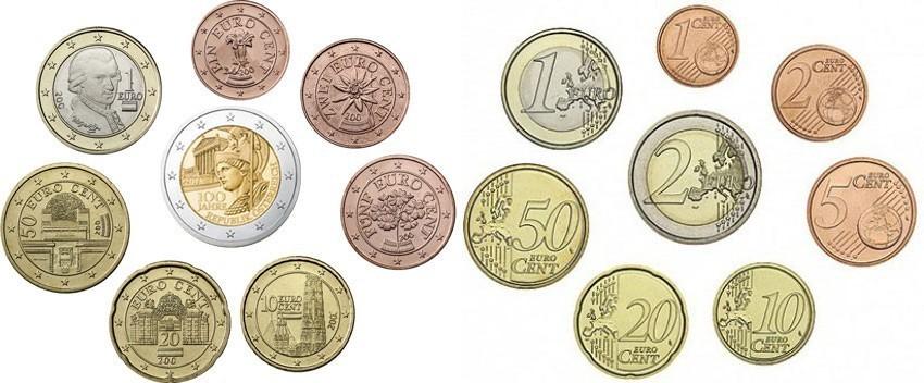 1 Cent 2 Euro 388 2018 österreich Kursmünzen Kompl Satz 2018