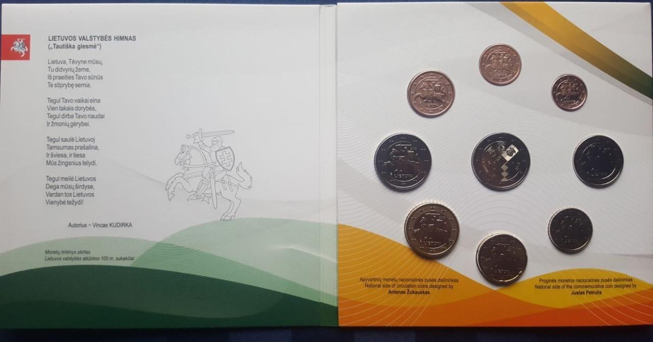 588 2018 Litauen 2 Amtlicher Euro Kursmünzensatz M9 Münzenb