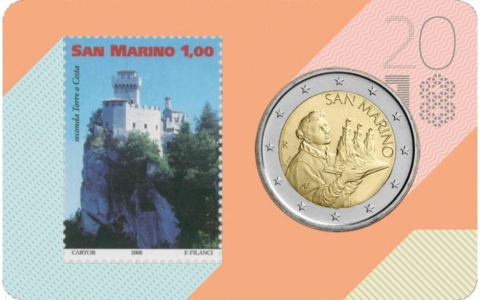 2 00 1 00 euro briefmarke 2018 san marino coincard 2018 mit 2 euro kursm nze 1 euro