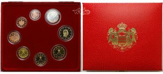 3,88 2006  Monaco Kursmünzen, Satz Monako 2006, mit Zertifikat  PP  im  Blister