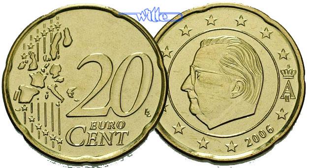 20 Cent 2000 Belgien Kursmünze 20 Cent Stgl Ma Shops