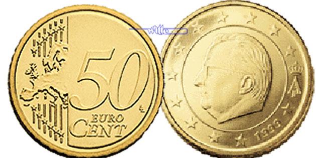 50 Cent 2009 Belgien Kursmünze 50 Cent Stgl Ma Shops