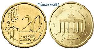 20 Cent 2008 Bjb Deutschland Kursmünze 20 Cent Stgl Ma Shops