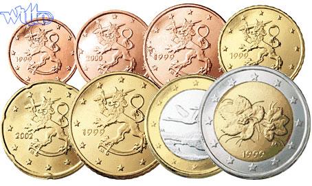 1 Cent 2 Euro 388 2004 Finnland Kursmünzen Kompl Satz 2004 Stgl