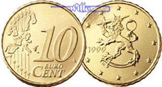 10 Cent 1999 Finnland Kursmünze 10 Cent Stgl Ma Shops