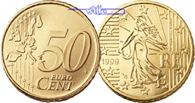 50 Cent 2001 Frankreich Kursmünze 50 Cent Stgl Ma Shops