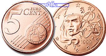 5 Cent 1999 Frankreich Kursmünze 5 Cent Stgl Ma Shops