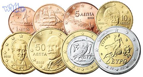 1 Cent 2 Euro 388 Mixsatz Griechenland Preiswerte