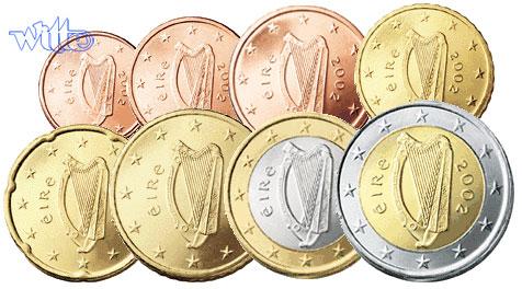 1 Cent 2 Euro 388 Mixsatz Irland Preiswerte Zusammenstellung