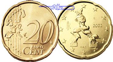 20 Cent 2002 Italien Kursmünze 20 Cent Stgl Ma Shops
