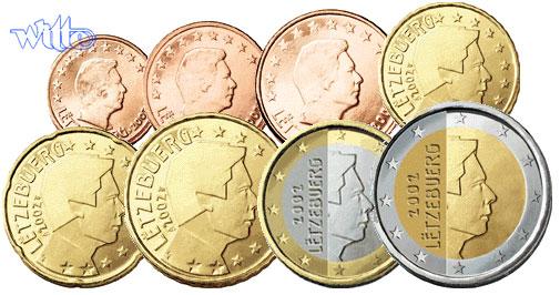 1 Cent 2 Euro 388 2002 Luxemburg Kursmünzen Kompl Satz 2002