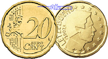 20 Cent 2007 Luxemburg Kursmünze 20 Cent Stgl Ma Shops