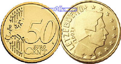 50 Cent 2007 Luxemburg Kursmünze 50 Cent Stgl Ma Shops