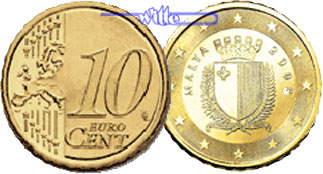10 Cent 2008 Malta Kursmünze 10 Cent Stgl Ma Shops