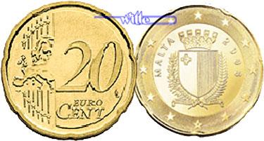 20 Cent 2008 Malta Kursmünze 20 Cent Stgl Ma Shops
