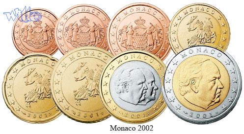 2 Euro Münzen Monaco
