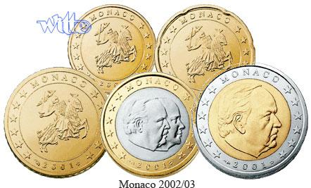 10 Cent 2 Euro 380 2002 Monaco Kursmünzen Satz 2002 Stgl Ma Shops